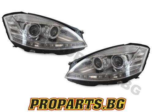 Headlights LED Mercedes W221 S-Class (2005-2009) Facelift Look