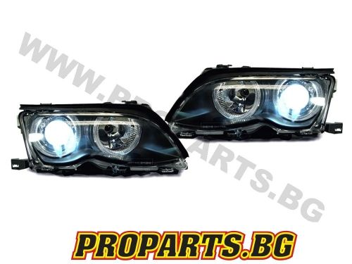 Loupes and headlights ANGEL EYES for BMW 3er 01-05 4 doors