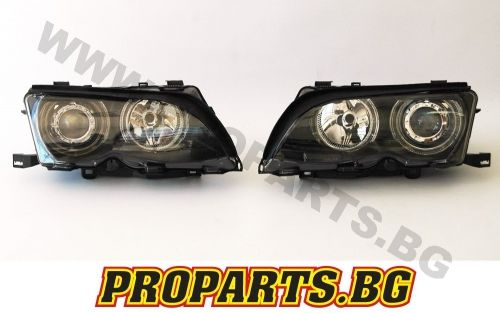 Headlights with projector and CCFL angel eyes for BMW 3er 01-05 4 doors