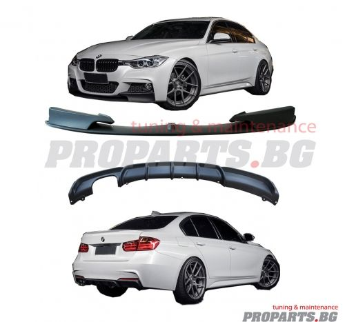 M performance front spoiler and rear diffuser for BMW f30 / f31 11