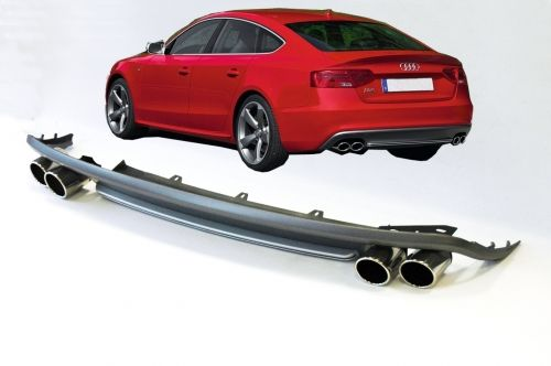 Audi S5 look rear diffuser with exhaust tips for A5 sportsback 07-16