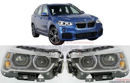 LED BI-xenon headlights set for BMW X1 F48 2015-