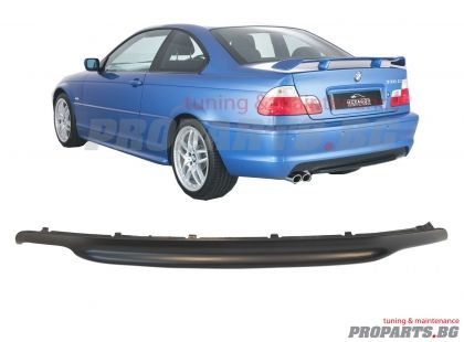 Rear diffuser for M sport bumper BMW e46