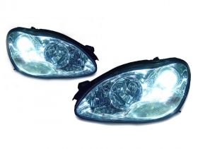 SET OF HEADLIGHTS MERCEDES-BENZ S CLASS 98- 05 FACELIFT TYPE