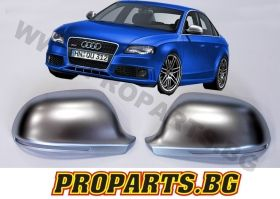 Silver Matte Mirror Covers for Audi B8 08-12 RS4 type