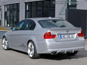 Aс spoiler rear bumper of BMW 3er 05-09 e90