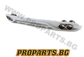 ABT style rear decorative diffuser with exhaust tips for Audi A4 B8 08-13