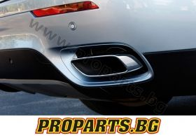 Set of BMW X5 e70 exhaust tips V8 type