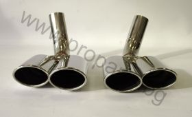 SET OF MUFFLER TIPS,S65 FACELIFT TYPE FOR MERCEDES-BENZ S-CLASS