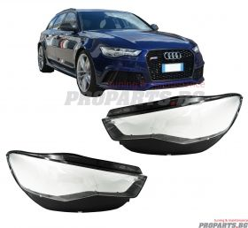 Headlamp lenses for Audi A6 C7 14-18 facelift
