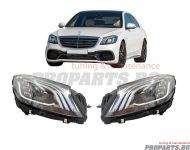 Facelift type LED headlights for W222 S class 13-17