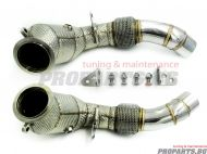 Downpipe for BMW F10 M5 F12 M6 11-17 with 200 CELL catalytic convertors